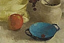 Still Life with Rosehips and Turquoise Bowl I